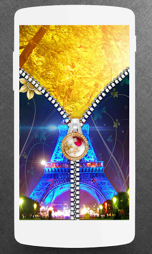 Paris Zipper Lock Screen