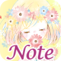 icon Simple Notepad Flowery Kiss